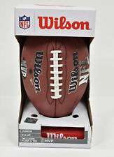 New Wilson Nfl Mvp Junior Football with Pump and Training Tee- Brown
