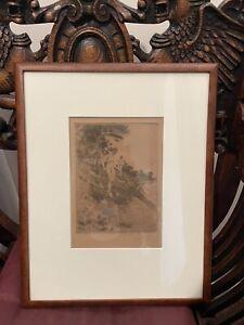 Anders Zorn Original Etching Signed Art Framed Listed Artist Estate Find!