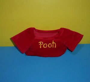 "Build a Bear Disney Workshop Winnie The Pooh Bear Plush 18"" BABW Shirt ONLY"