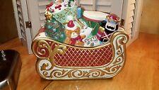 2003 Avon Santa`s Sleigh Ceramic Collectible Cookie Jar Toys Christmas