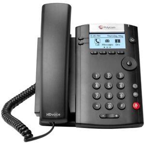 NEW Polycom VVX-201 VoIP 2 Line Desktop Office Phone 2200-40450-025