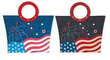 Fourth of July ~ American Flag Fiber Optic Tote Bag