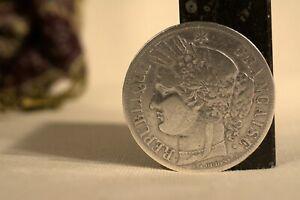 PIECE ARGENT 5 Francs Cérès 1851   19th century silver coin silber plata argento