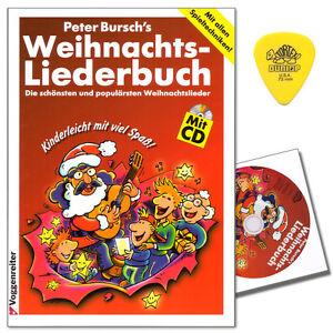 Peter Bursch's Weihnachtsliederbuch mit CD -  Voggenreiter - 9783802403033