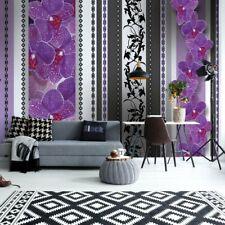 Tapete Fototapete Vlies Luxus Blumenmuster Lila Orchideen