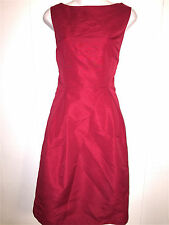MERONA WOMENS LADIES LINED RED WASHABLE SLEEVELESS SPRING SUMMER CAREER DRESS 10