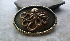Handmade Bronze Octopus Belt Buckle