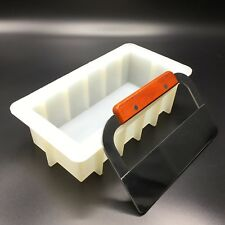 Rectangular Silicone Loaf Soap Mold 39 oz With a Flat Soap Cutter USA