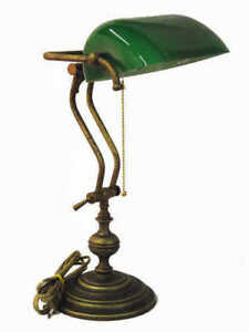 Lamp Desk American Ministry Old England Brass Burnished Office Work