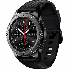 Relojes inteligentes negros, serie Samsung Gear S3 frontier Android