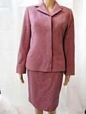 Carolina Herrera Burgundy/ Pink Skirt Suit  Sz 8-6