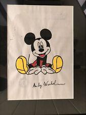 Andy Warhol (1928-1987) Verschillende Technieken Tekening Mickey Mouse