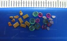 (UK) 5 gold bullion 999.9+5 gold nuggets+5 rough diamond+5 emerald+5 ruby