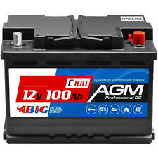 BIG AGM 100Ah 12V Solarbatterie Versorgungsbatterie Mover Caravan Bootsbatterie