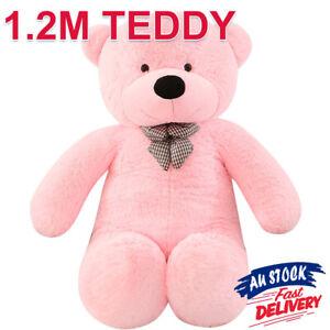 1.2M Teddy Toy Stuffed Animal Giant Doll Bear Pink Soft Gift Plush Cuddly ACB#