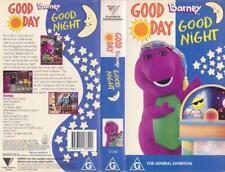 BARNEY'S  GOOD DAY GOOD NIGHT   VHS VIDEO PAL~ A RARE FIND~