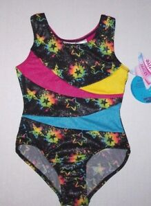 NWT New Jacques Moret Leotard Leo Rainbow Star Tank Hologram Speckles Cute Girl