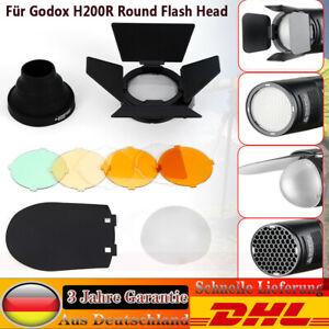 Für Godox H200R Blitzgeräte Soft Lampen Zubehör Set AK-R1 Round Blitzkopf DE DHL
