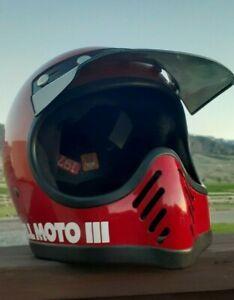 Vintage ORiGiNAL USA BELL STaR MOTO 3 Motocross Full Face HELMET w ViSOR - RARE!