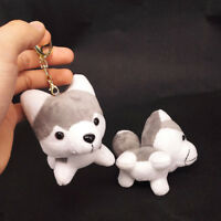 Lovely Husky Dog Shaped Key Chain Key Ring Handbag Pendant Plush Stuffed Toy