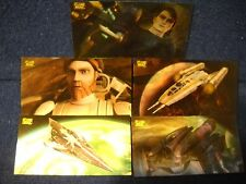 2009 STAR WARS CLONE WARS WIDEVISION MOTION Card SET (5)