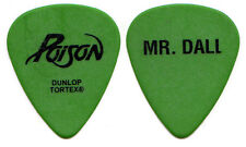 Poison Guitar Pick : 2006 20 Years of Rock Tour - green Mr. Bobby Dall