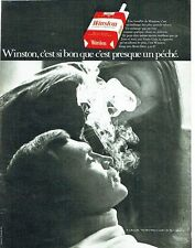 Publicité Advertising 067  1970  cigarette Winston   R.J Reynolds