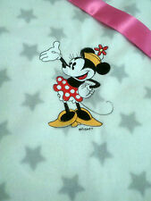 personalized boy / girl white with grey star bassinet/ cot minnie mouse blankets