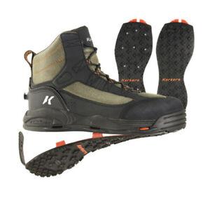 Korkers Greenback Wading Boots FB4820 Kling On Soles Mens Size 11 Medium