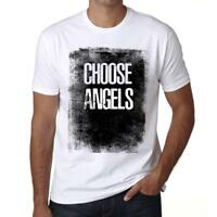 Men's Vintage Tee Shirt Graphic T shirt Choose ANGELS White