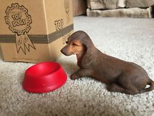 New! Country Artists 2006 Top Dogs Dachshund Puppy Resin Figurine + Bonus Bowl