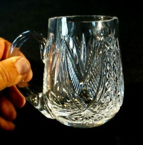 Beautiful Waterford Crystal Mug / Tankard