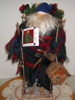 "VTG International Christmas Decoration 18"" Mountain Man Santa 1995"