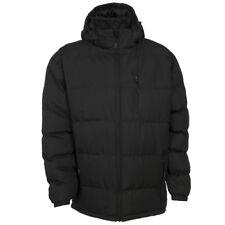 Trespass Mens Clip Padded Hooded Jacket Black Medium Cs081 EE 01