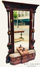 19TH C ANTIQUE VICTORIAN RENAISSANCE REVIVAL THOMAS BROOKS WALNUT HALL TREE