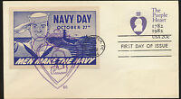 Purple Heart #U603 Vintage Navy Label Cachet by DR Cachets FDC Unaddress LOT 877