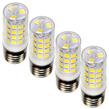 4-Pack HQRP 110V 3W Cool White E17 LED Bulb for Whirlpool 8206232A Replacement