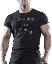 Are You Drunk? Yes or No  - Funny Beer Drinking Men's Party T-Shirt Tee Top