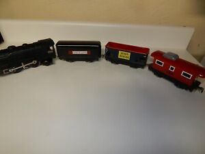 Marx Tinplate Train Set. Cars Refinished. 999 is Original. Runs & lights