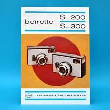 beirette SL 200 u. 300 Kamerafabrik Beier Freital DDR 1971 | Prospekt Werbung C