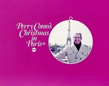 PERRY COMO CHRISTMAS IN PARIS EIFFEL TOWER ORIGINAL 1981 ABC TV PHOTO BILLBOARD