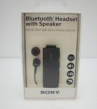 Sony SBH56 Bluetooth Headset with Speaker - Black - Retail Packaging