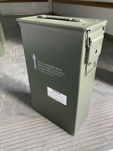 US Military Metal Ammo Can 8 Cartridge 60MM Tall M224 Mortar USGI Surplus Empty