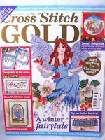 Cross Stitch Gold UK Magazine Issue 15 Dec 2009 Christmas Patterns Winter Fairy