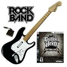 NEW PS3 Rock Band Wireless Fender Stratocaster & Guitar Hero Metallica Bundle
