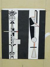 "RARE 1970 CUBAN ARTIST JOSE MARIA MIJARES SURREAL ABSTRACT PAINTING ""BOCETO"""