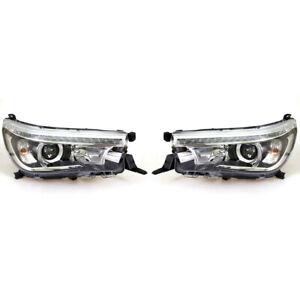 fit Toyota HiLux Revo GUN136R SR5 Pickup 2015-2017 Slim projector headlights LED