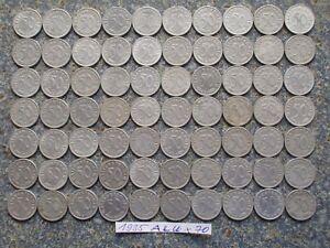 Third Reich 70x 50 Reichspfennig Nazi Germany Pfennig Lot Eagle Aluminium coin