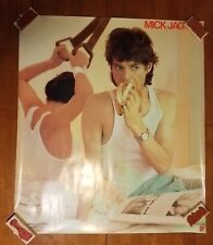 """Mick Jagger  US promotional poster 1 sided VG+ appx 30"""" x 34"""" D"""