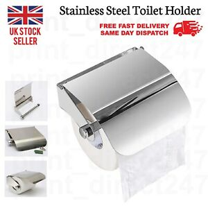 Toilet Tissue Roll Holder Paper Stand Dispensers Wall Mounted Chrome Finish